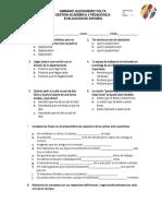 Evaluaciòn de Gramàtica de Subjuntivo