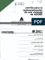 Cartilla de Autoconstrucción en Adobe SEDUE
