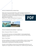 Centro America y Sus Vias de Comunicacion