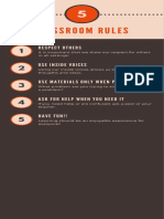 5 classroom rules infographic