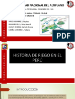 Historia de Riego en El Perú