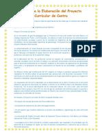 Guía Para La Elaboración Del Proyecto Curricular de Centro