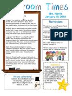 january 19 newsletter