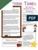 february 16 newsletter