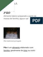 Pão – Wikipédia, A Enciclopédia Livre