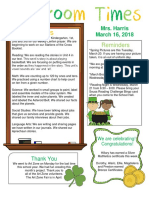 march 16 newsletter