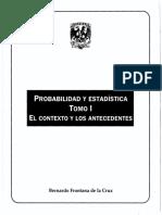 Probabilidad y Estadistica Tomo i El Contexto y Los Antecedentes