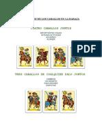 Combinaciones de Los Caballos Baraja Española