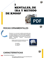 Rocas Ornamentales, De Cantera y Metodo De
