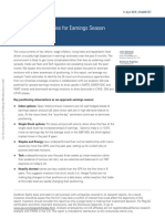 Goldman Sachs Derivatives Research - Top 25 Tactical Trades for Earnings Season