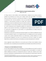 Pronunciamiento - Ago 2016 - Desafios Del TS Coyuntura