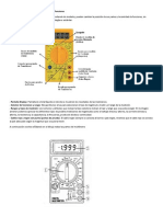 Partes Del Multímetro Digital y Simbología de Funciones
