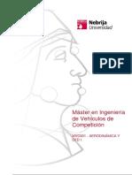 Máster en Ingeniería de Vehículos de Competición MVC001 - AERODINÁMICA Y CFD I
