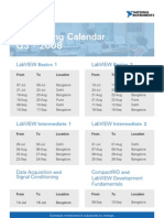 NI Training Calendar Q3 08