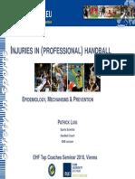 4.2. Handball Injuries - EURO