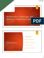 01 - Anatomía y Fisiología Del Sistema Vestibular Periférico