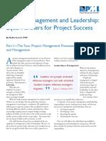 Project Management & Leadership