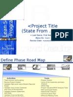 Bonacorsi Consulting Master DMAIC Roadmap