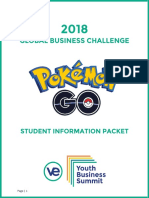2018 Global Business Challenge [Student and Team Information Packet]