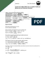 Práctica 5. Determinación de La Masa Molar de Un Líquido Volátil - Laboratorio de Termodinámica