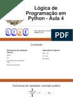 Aula 04 - Lógica de Programação Em Python