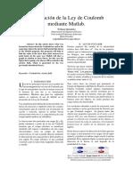 Aplicación de La Ley de Coulomb Mediante Matlab