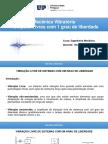 Vib. Livres Com 1 Grau de Liberdade - Mecânica Vibratória