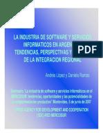 2006 - Presentación - La Industria de Software y Servicios Arg