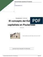 El Concepto Del Estado Capitalista en Poulantzas a11117