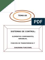 Sistemas de Control y Funciones de Transferencia
