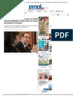 Ministro de Justicia Aclara Que No Instalar La Imprescriptibilidad _favorecería La Impunidad de Los Abusadores Sexuales_ _ Emol.com
