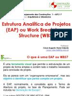 Aula 05 - WBS e EAP No Planejamento Da Construção Civil