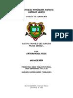 Cultivo y Manejo de El Durazno (Pranus Persica l.).