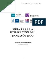 Guía Banco Óptico