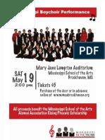 Boys Choir Fundraiser MSA