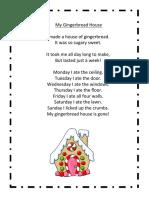 Gingerbread House Poem