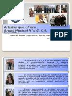 Presentacion de talentos que representa Grupo Musical H´s G, C.A.