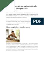 Diferencias Entre Autoempleado y Empresario