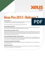 Xeus Pro 2013 Datasheet Sept 2013