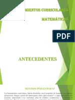 Lineamiento de Matematicas Presentacion