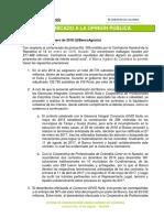 Comunicado a la opinión pública del Banco Agrario de Colombia