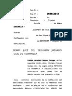 Exhoto de Peticion de Herencia Chavez