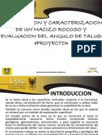 DIAPOSITIVAS CLASIFICACIONES GEOMECANICAS