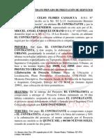 Contrato Privado de Prestación de Servicios Eym Ingenieros