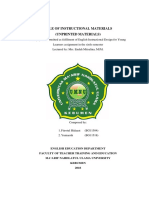 Role of Instructional Materials - Unprinted Material