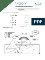 Evaluación Escrita de Matematicas