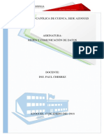 Informe de Redes Y Comunicacion de Datos