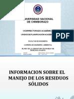 Informacion Sobre El Manejo de Los Residuos Sólidos