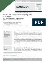 Revisión de La Esclerosis Múltiple (2) Diagnóstico y Tratamiento