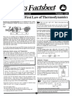 Calculations First Law of Thermodynamics
